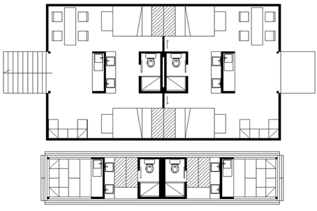 Fig. 24 Housing for 8 persons.