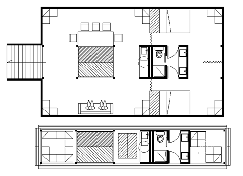 Fig. 25 Housing for 4 persons.
